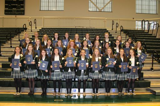 Thirty-three juniors welcomed to National Honor Society