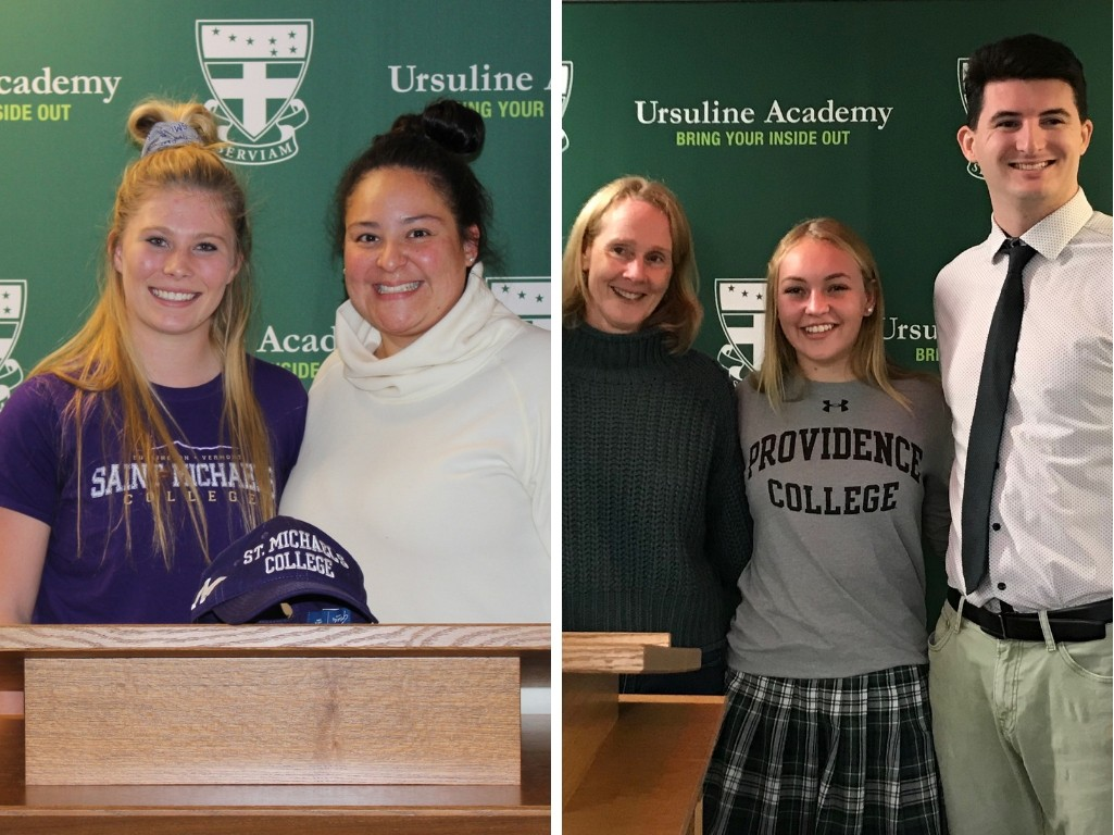 Two Ursuline Athletes Sign Letters of Intent